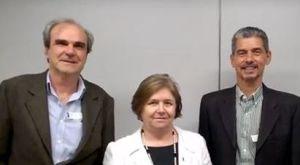 NO MEC – A profa. Dulce Tristão, diretora da DIFES, recebeu os representantes da APACAp Wilson (esq) e Cássio.